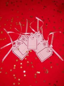 Etiqueta con motivos navideños, Glossybox