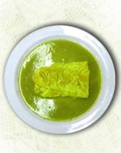 Bacalao con crema de pimiento verde